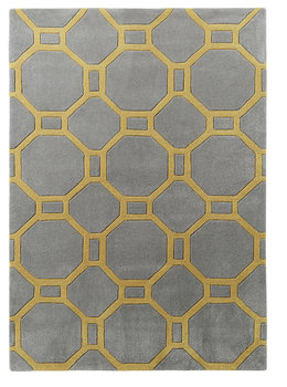 Vloerkleed Hawai kleur grijs geel 4338
