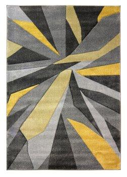 Modern vloerkleed Coridon Shatter kleur oker grijs