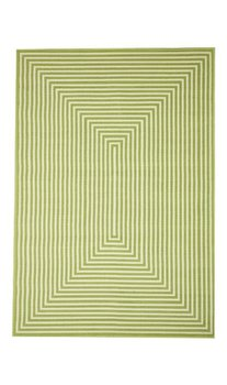 Exclusief groen vloerkleed met strepen Thera