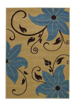 Aanbieding vloerkleed Victoria kleur beige blauw OC15