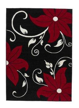 Aanbieding vloerkleed Victoria kleur zwart rood OC15