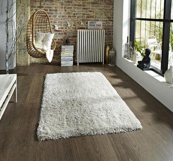 Hoogpolig vloerkleed Montblanc kleur creme