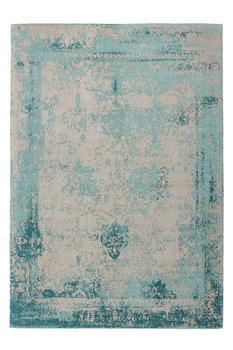 Geweven vintage vloerkleed Vintage Plus Turquoise