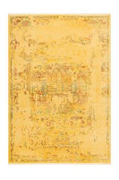 Vintage vloerkleed Madras geel met 3D effect