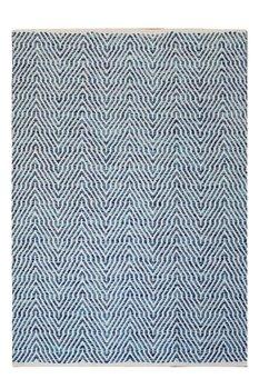 Katoen vloerkleed Retif blauw