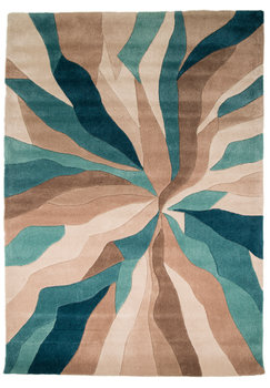 Design vloerkleed Dream kleur teal