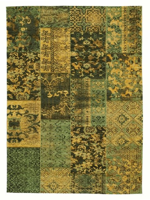 Aanbieding patchwork vloerkleed New York 445 Groen