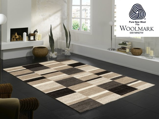 Wol vloerkleed Wool Plus 458 cappuccino