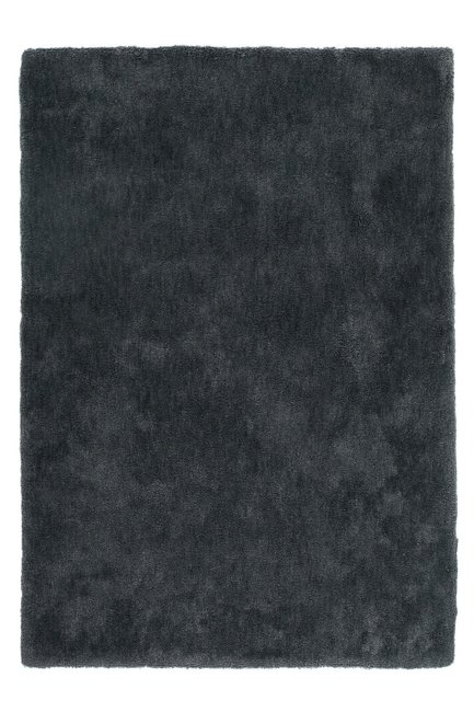 Hoogpolig antraciet vloerkleed of tapijt Komodo
