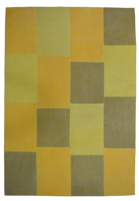 Patchwork vloerkleed Lira Multicolor geel