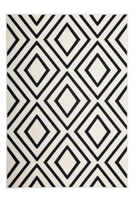 Zwart wit modern vloerkleed Ariadne