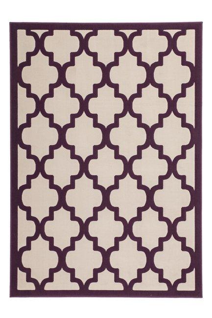 Modern vloerkleed Dolf Taupe Purple