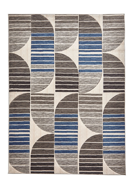 Vloerkleed Pemela kleur grijs blauw HB33