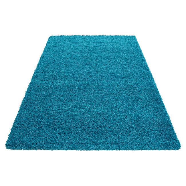 Turquoise vloerkleden Adriana Shaggy  1500/AY Turquoise