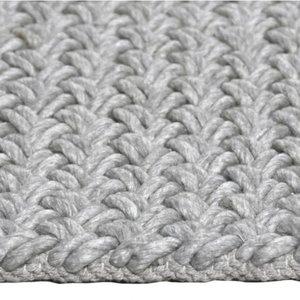 Vloerkleed gemaakt van 100% wol Brian zilver