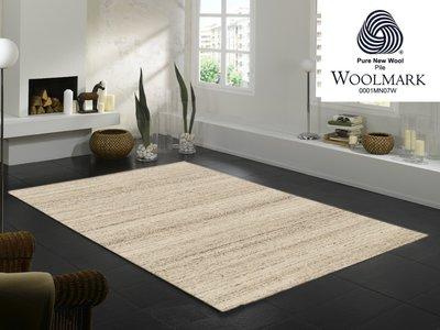 Zuiver scheerwol vloerkleed Wool Plus 469 Natur